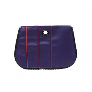 Handbag Pocket - Multi-Stripe in Purple Squash