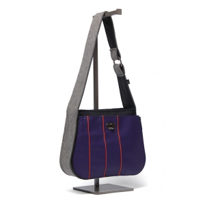 Handbag - Multi-Stripe in Purple Squash